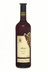 Víno Červené Merlot 0,75L Lechovice