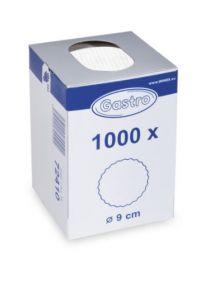 Rozetky 9 cm bílé / 1000ks