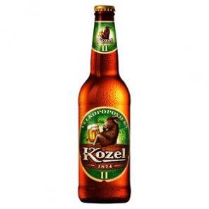 Velkopopovický Kozel světlý 11% 0,5L Láhev